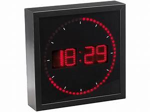 Led Uhr Wand : lunartec led wanduhr mit sekunden lauflicht durch rote leds ~ Whattoseeinmadrid.com Haus und Dekorationen