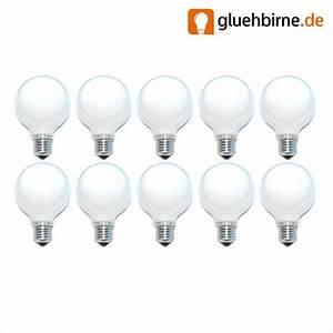 Glühbirne 40 Watt : 10 x globe gl hbirne 40w e27 opal g80 80mm globelampe 40watt gl ~ Frokenaadalensverden.com Haus und Dekorationen
