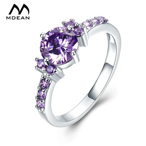 Mdean White Gold Color Rings For Women Purple Aaa Zircon. Stainless Steel Bands. Everyday Bracelet. Carbon Engagement Rings. Fancy Chains. Blue Green Sapphire. Silver Cross Necklace. Sunstone Gemstone. Heuer Carrera Watches