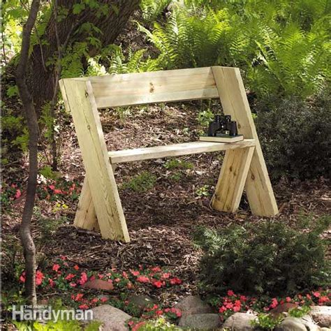 build  wooden bench    family handyman