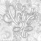 Coloring Pages Valentines Lettering Getcoloringpages Heart Detailed Valentine Mandala Adult Printable sketch template