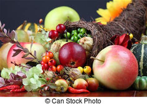 cornucopia vegetales ilustracion cuerno vector abundancia fruits