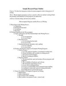 Example of Research Paper Outline