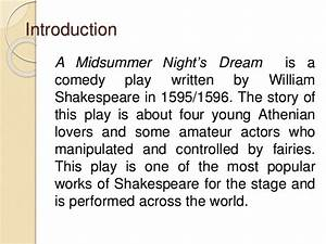 Themes And Plot Analysis In A Midsummer Nightu002639s Dream By