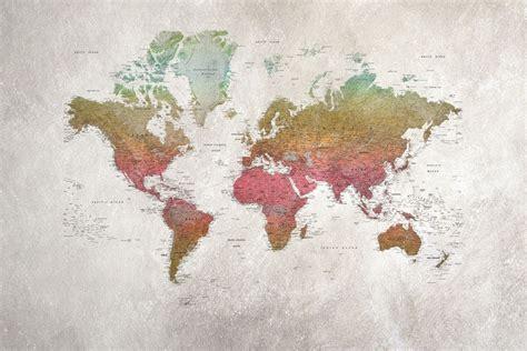 Papier Peint Carte Du Monde Gold by School Atlas Rainbow Mappemonde Carte Du Monde Et Chambres