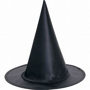Black Satin Halloween Children's Fancy Dress Witch Hat - 2906