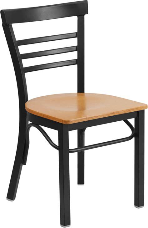 adelina black metal cafe chair wood seat