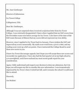 How To Write An Appeal Letter For College