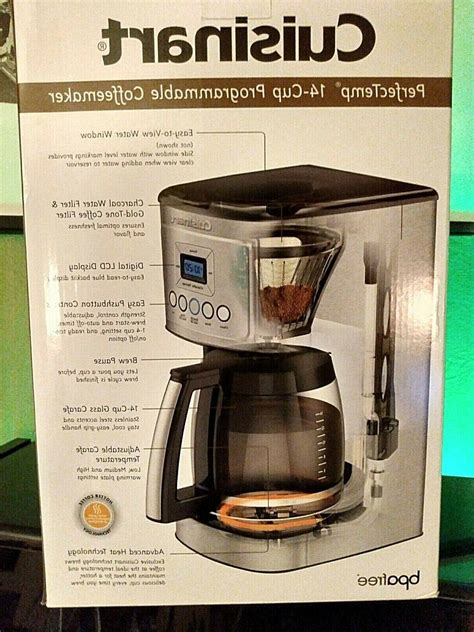"""Cuisinart offers a number of different coffee makers, ranging from single serve to automatic and even. Cuisinart 14-Cup Coffee Maker DCC-3200 """"Perfectemp"""" GORGEOUS!"""
