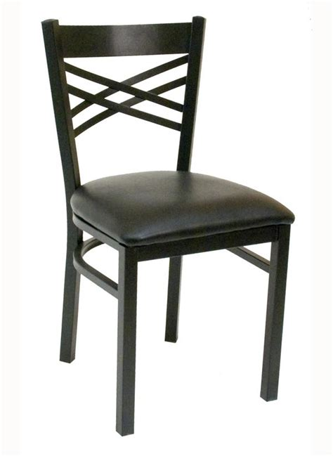 criss cross back metal chair