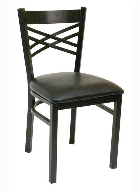 criss cross back metal chair
