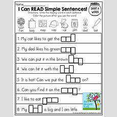 I Can Read! Simple Sentences With Cvc Words To Fill In!  March  Pinterest  Simple Sentences