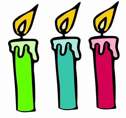 Candle Clipart Birthday Cartoon Candles Clip Svg