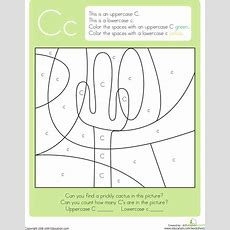 Color By Letter Capital And Lowercase C  Kids  Lettering, Preschool Letters, Alphabet Worksheets