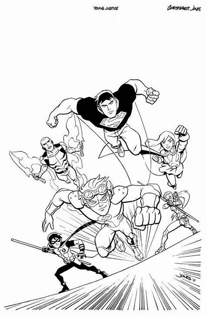 Justice Young Coloring Nightwing Dc Jones Robin