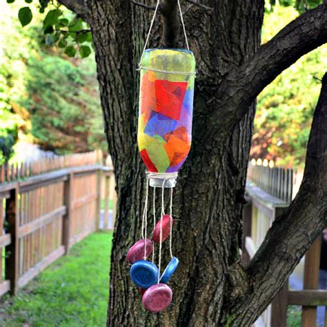 tea bottle wind chime family crafts 974 | Windchimesubmit