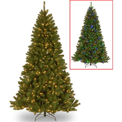 walmart christmas trees with lights national tree pre lit 7 5 39 north valley spruce 3 function