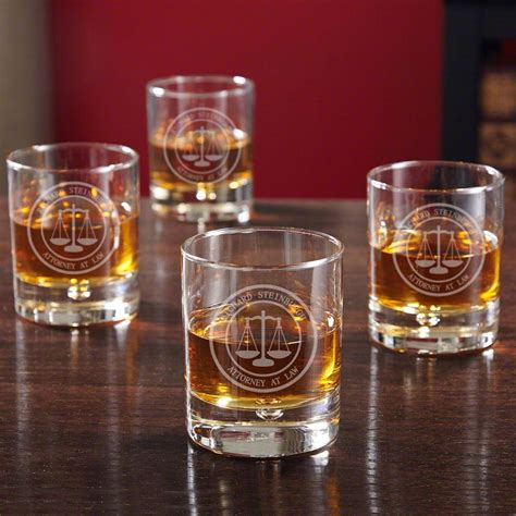 Scales Of Justice Personalized Bryne Whiskey Glasses For