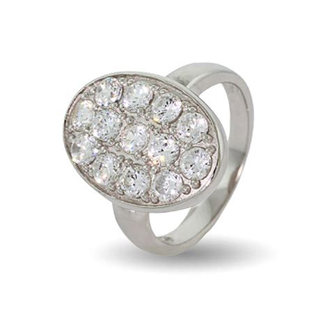 inspired oval pave cz wedding ring clearance 6 ebay