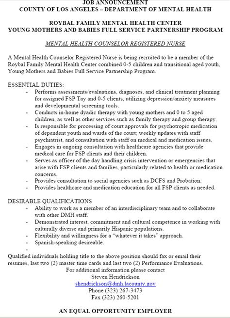 Mental Health Counselor Resume Summary by Sle Resume Mental Health Counselor Gallery Creawizard