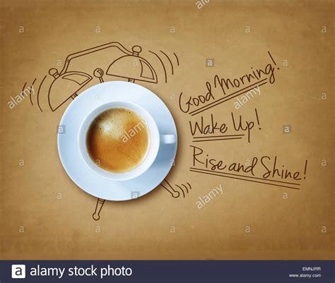 guten morgen kaffee stockfoto bild  alamy