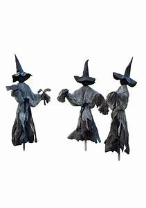 Lawn, Witch, Trio, Decoration, Pack