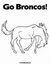 Broncos Coloring Denver Pages Printable Drawing Colouring Mascot Popular Getcolorings Getdrawings Coloringhome sketch template