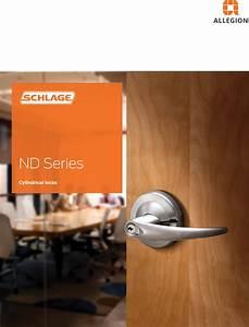 Schlage Nd Series Catalog 106501