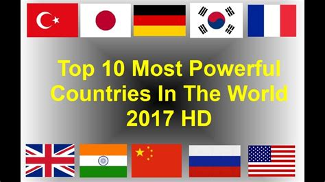 Top 10 Most Powerful Countries In The World 2017 Hd Youtube