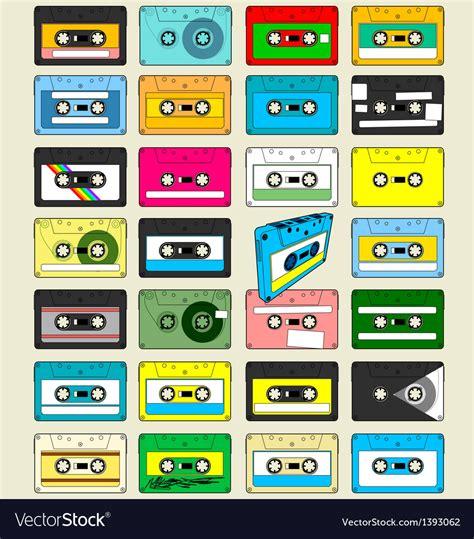 audio cassette tape wallpaper royalty  vector image