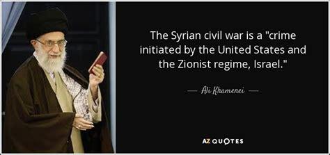 "Ali Khamenei quote: The Syrian civil war is a ""crime"