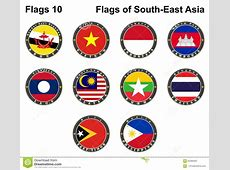 Flags Of SouthEast Asia Flags 10 Stock Vector Image