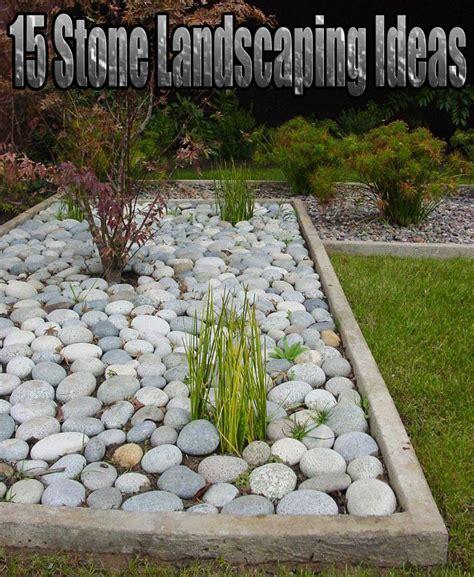 stone landscaping ideas quiet corner