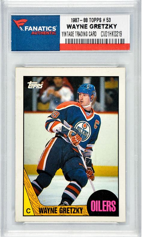 Wayne Gretzky Slabbed Hockey Cards