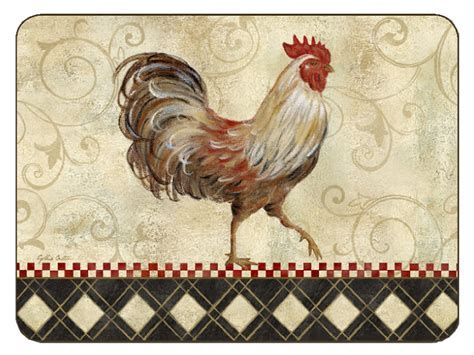 Jason Placemats Rooster Sentiment Tablemats Design