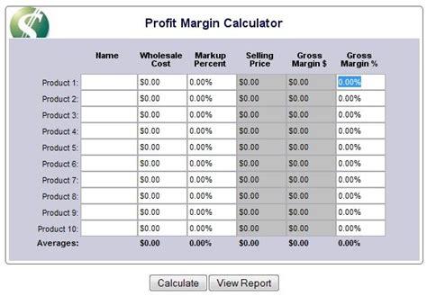 profit margin calculator  marketing strategies