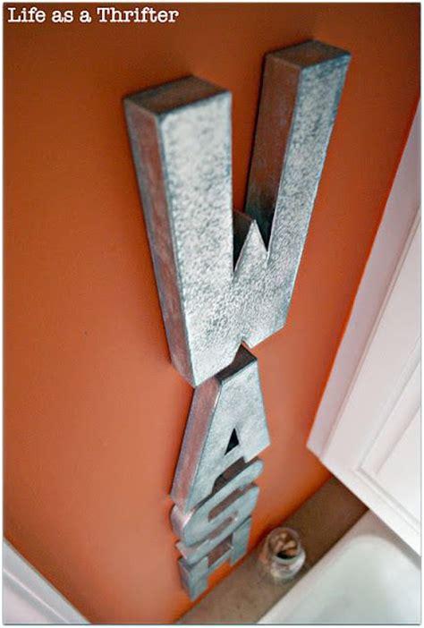 hobby lobby cardboard letters painted  metal