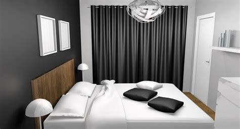 deco chambre adulte gris et blanc déco chambre teck