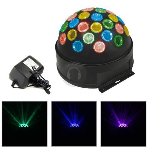 Cheap Skytronic Fireball Led Mirror Ball Disco Light Ebay