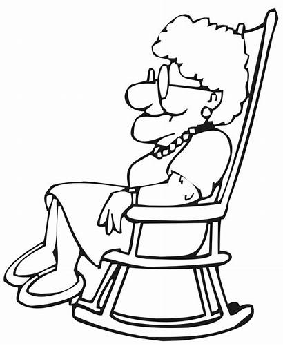 Coloring Lady Chair Rocking Popular