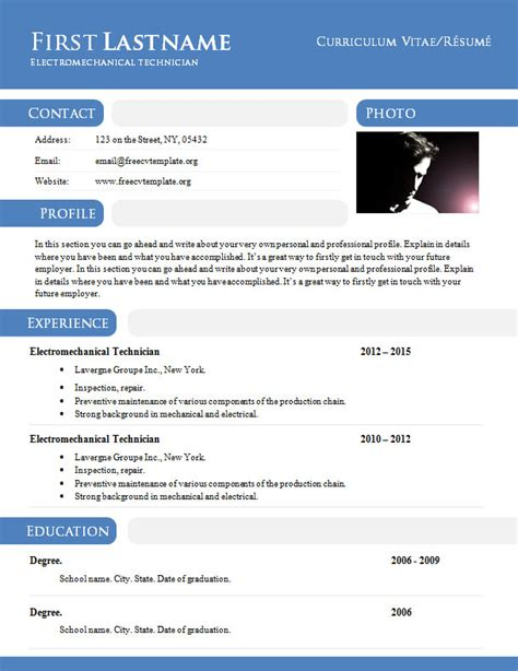 Free Resume Templates Doc Resume Template Doc Learnhowtoloseweight
