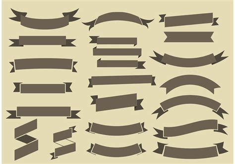 free ribbons vector collection download free vector art
