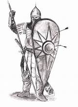 Medieval Warrior Drawing Anime Russian Sketch Deviantart Coloring Template Warband Larger Credit Ar Marzo Scrivete Numerosi sketch template