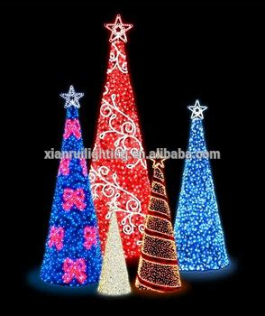 promotional shinning commercial cone shape ribbon tree