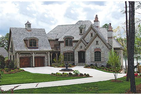 Unique Stone Home Plans #10 French Country Brick And Stone