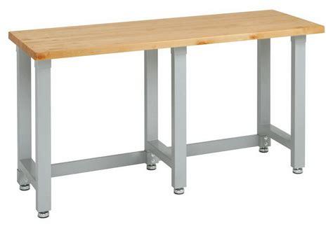 heavy duty workbench wood table top steel frame tool