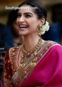 black and gold earrings sonam kapoor in traditional gold jewellery jewellery designs