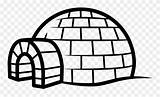 Igloo Clipart Coloring Pinclipart sketch template