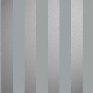 streifentapete stal silber grau von essener tapeten With markise balkon mit grau silber tapete