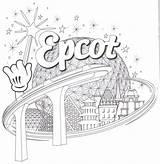 Disney Coloring Earth Spaceship Epcot Malvorlagen Quallen Resort Showcase sketch template